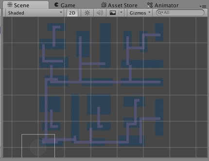 Random 2D dungeon generation in Unity using BSP (Binary Space