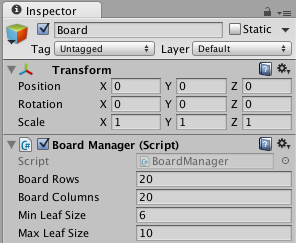 Variables in editor