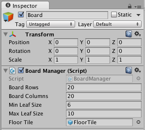Floor prefab variable editor